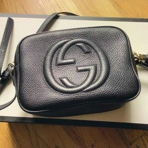Gucci soho disco bag black leather